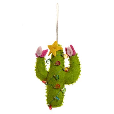 Carolyn Donnelly Eclectic Felt Cactus With Lights thumbnail