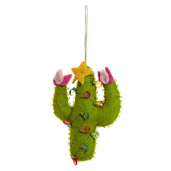 Carolyn Donnelly Eclectic Felt Cactus With Lights