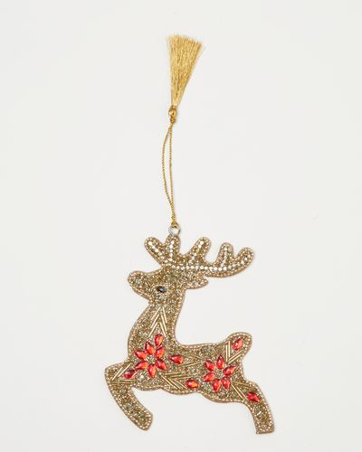 Carolyn Donnelly Eclectic Beaded Reindeer Decoration