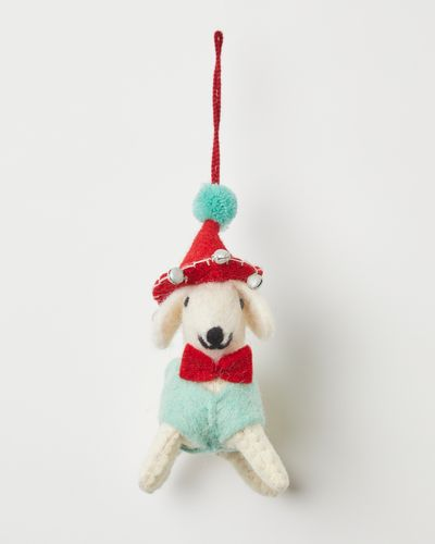 Carolyn Donnelly Eclectic Dog In Hat Decoration