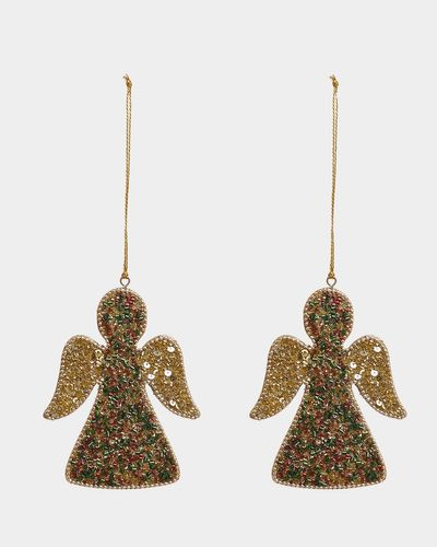 Carolyn Donnelly Eclectic Beaded Angel Decoration - Pack of 2