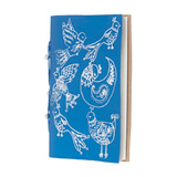 denim Carolyn Donnelly Eclectic Recycled Leather Notebook