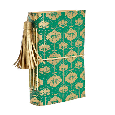 dark-greenCarolyn Donnelly Eclectic Pattern Leather Notebook