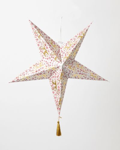 Carolyn Donnelly Eclectic Paper Star With Tassel
