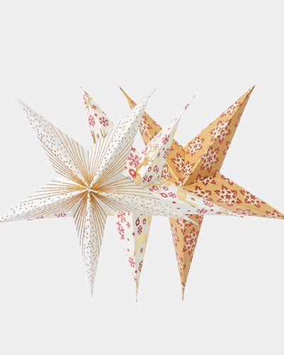 Carolyn Donnelly Eclectic Paper Star - Pack Of 6