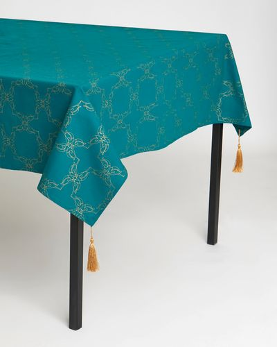 Carolyn Donnelly Eclectic Printed Tablecloth With Tassels