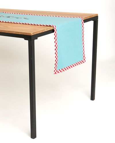 Carolyn Donnelly Eclectic Festive Embroidered Robin Runner