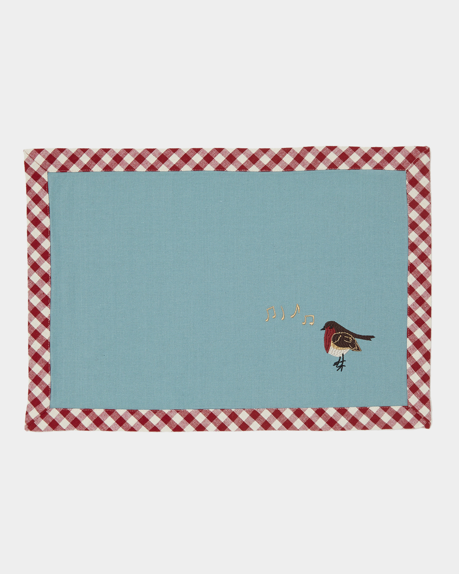 Dunnes Stores Aqua Carolyn Donnelly Eclectic Embroidered Robin Placemat