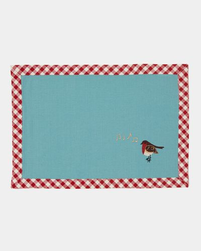 Carolyn Donnelly Eclectic Embroidered Robin Placemat