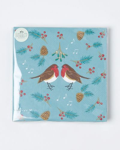 Carolyn Donnelly Eclectic Christmas Robin Paper Napkin
