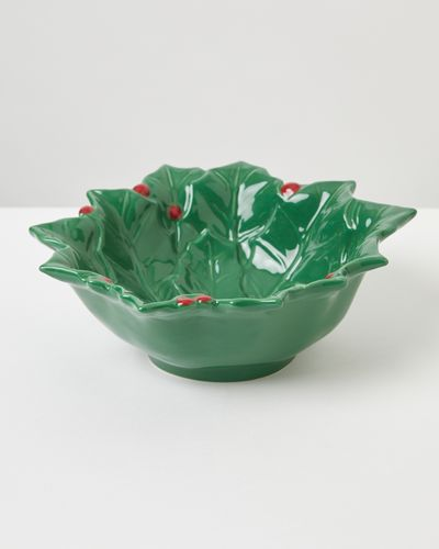 Carolyn Donnelly Eclectic Holly Leaf Serving Bowl