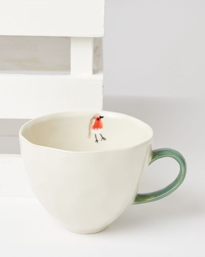 Carolyn Donnelly Eclectic Robin Handpainted Mug