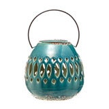 blue Carolyn Donnelly Eclectic Ceramic Lantern