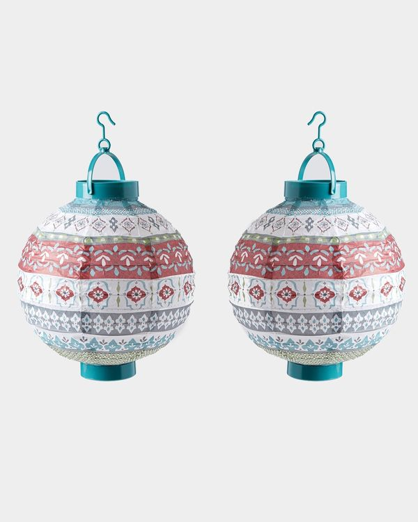 Carolyn Donnelly Eclectic Paper Lanterns - Set Of 2