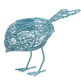 blue Carolyn Donnelly Eclectic Wire Bird Tealight Holder