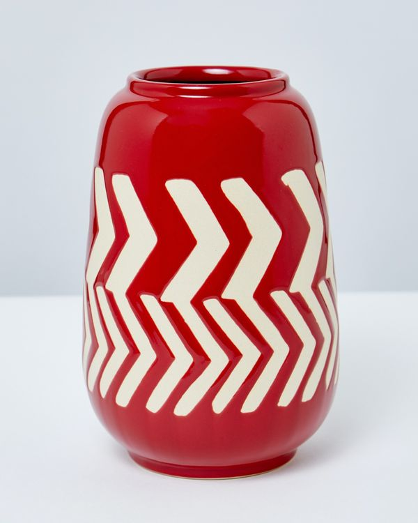 Carolyn Donnelly Eclectic Arrow Ceramic Vase