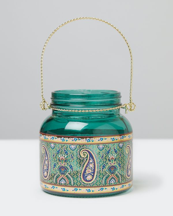 Carolyn Donnelly Eclectic Glass Decal Lantern