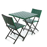 green Carolyn Donnelly Eclectic Woven Bistro Set