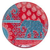 raspberry Carolyn Donnelly Eclectic Safari Melamine Side Plate
