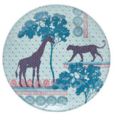 multi Carolyn Donnelly Eclectic Safari Melamine Plate