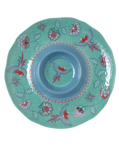 Carolyn Donnelly Eclectic Paradise Melamine Dip Platter