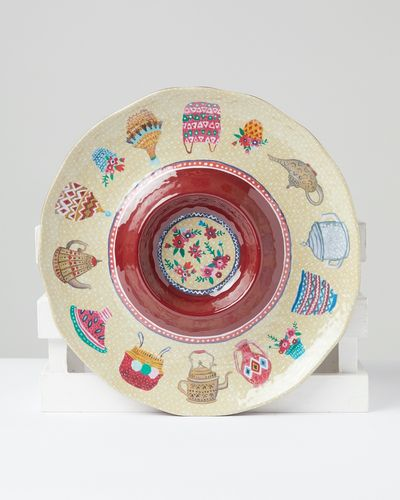 Carolyn Donnelly Eclectic Chip And Dip Melamine Plate thumbnail