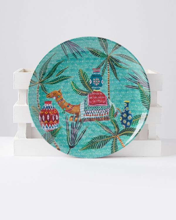 Carolyn Donnelly Eclectic Marrakesh Melamine Dinner Plate
