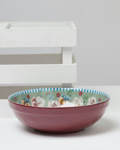 Carolyn Donnelly Eclectic Boho Melamine Salad Bowl
