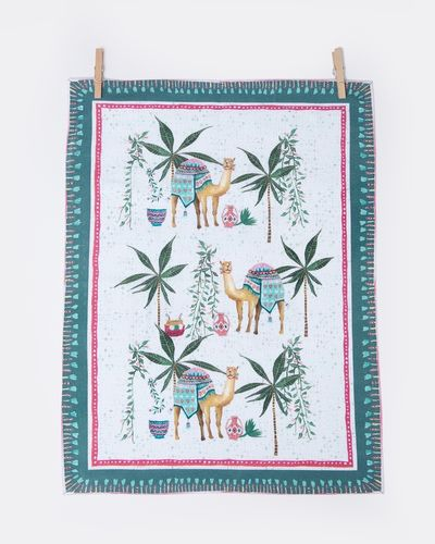 Carolyn Donnelly Eclectic Oasis Digital Print Tea Towel