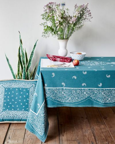 Carolyn Donnelly Eclectic Paisley Tablecloth