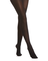 black 30 Denier Velvet Semi-Opaque Tights