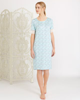 aqua Carolyn Donnelly Eclectic Dove Nightie