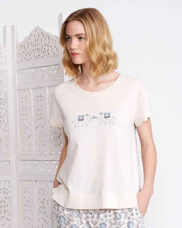 Carolyn Donnelly Eclectic Haiti T-Shirt With Print