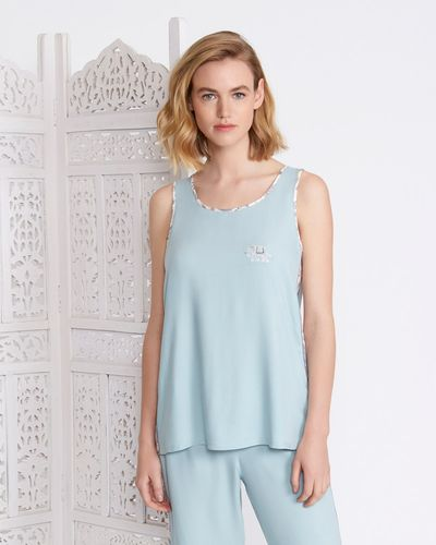 Carolyn Donnelly Eclectic Vest With Contrast Panel
