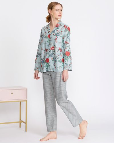 Carolyn Donnelly Eclectic Printed Cotton Pyjama Set