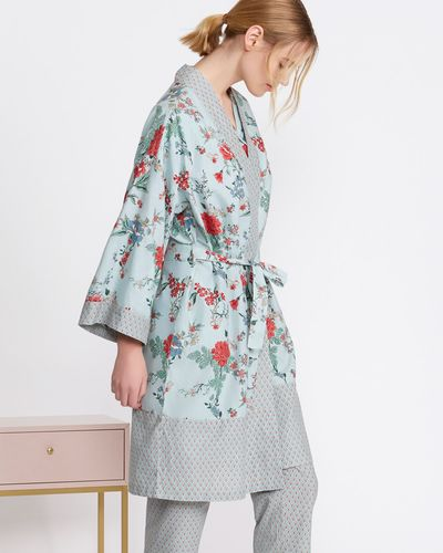 Carolyn Donnelly Eclectic Printed Cotton Kimono