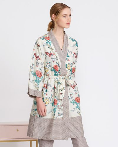 Carolyn Donnelly Eclectic Printed Cotton Kimono thumbnail
