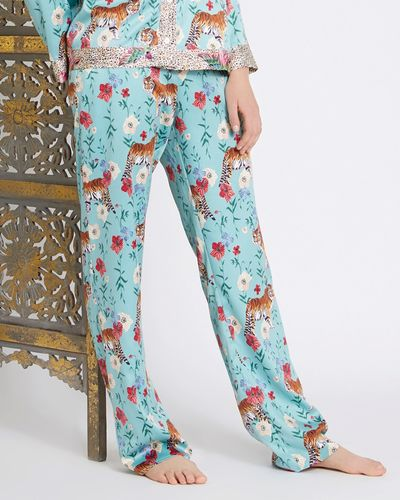Carolyn Donnelly Eclectic Bengal Hammered Satin Pyjama Pants