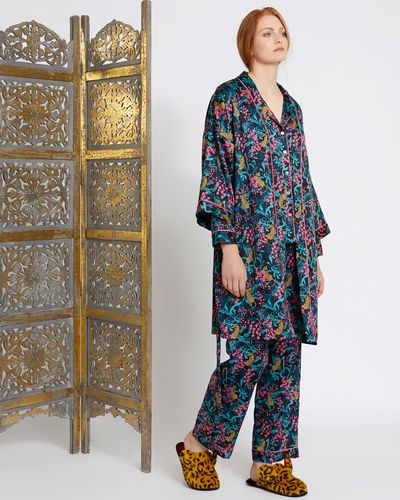 Carolyn Donnelly Eclectic Boxed Osaka Hammered Satin Kimono