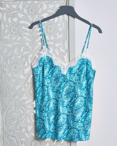 Carolyn Donnelly Eclectic Oasis Crinkled Satin Print Vest thumbnail