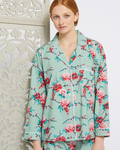 Carolyn Donnelly Eclectic Rose Print Pyjama Top
