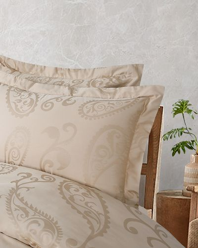 Michael Mortell Feather Oxford Pillowcase