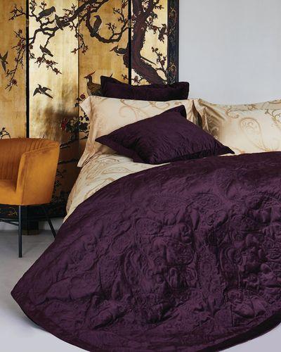 Michael Mortell Velvet Quilted Bedspread
