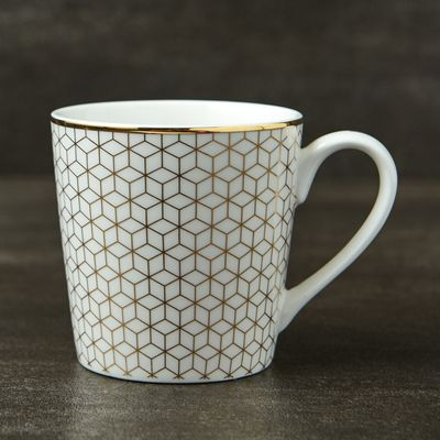 Michael Mortell Marseilles Mug - White And Gold thumbnail