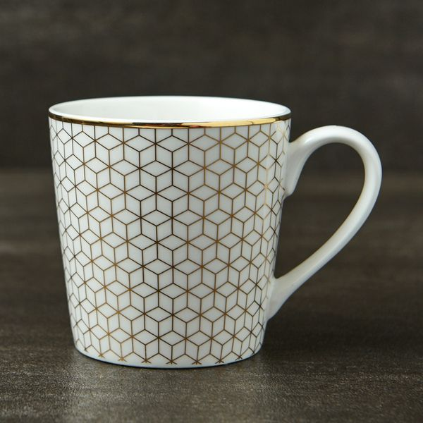 Michael Mortell Marseilles Mug - White And Gold