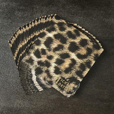 Michael Mortell Leopard Paper Napkins