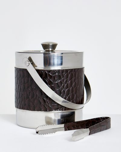 Michael Mortell Leather Ice Bucket