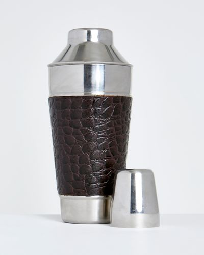 Michael Mortell Leather Cocktail Shaker