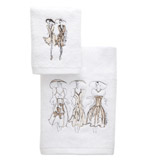 white Paul Costelloe Living Lady Guest Towel