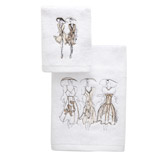white Paul Costelloe Living Lady Hand Towel